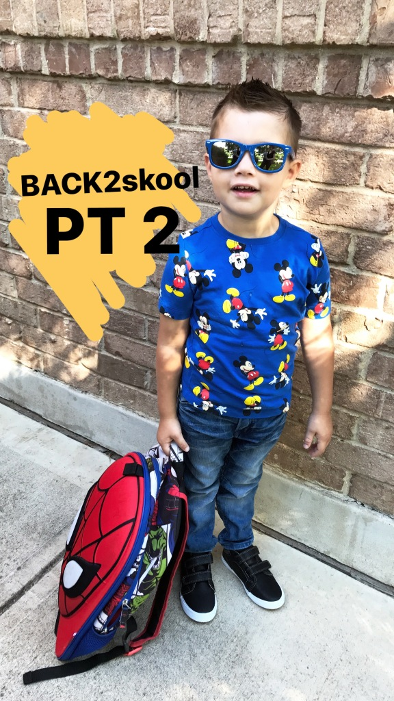 back to school boy style first day school