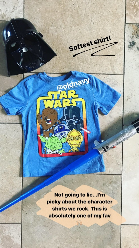 star wars boy fashion character tee
